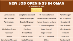 Latest New Job Openings in Oman 2017 - Job Shob
